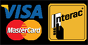 We accept VISA, MasterCard and Debit